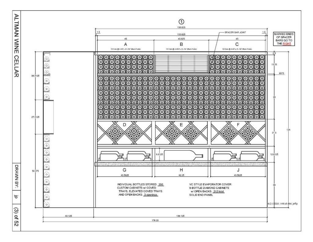 Custom Wine Cellar Drawing Houston Elevation 1 1024x792