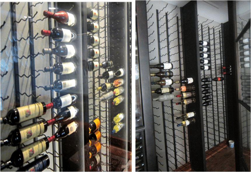 metal wine racking