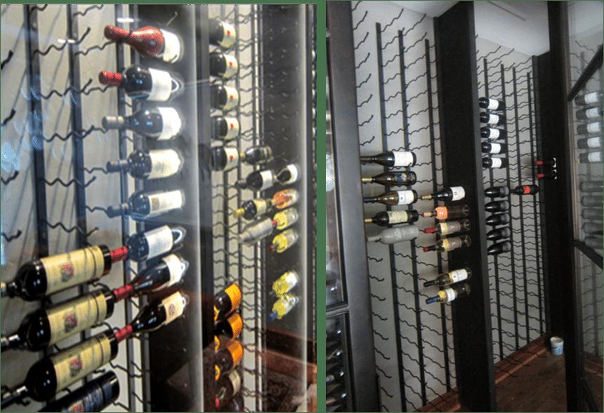 metal wine racking