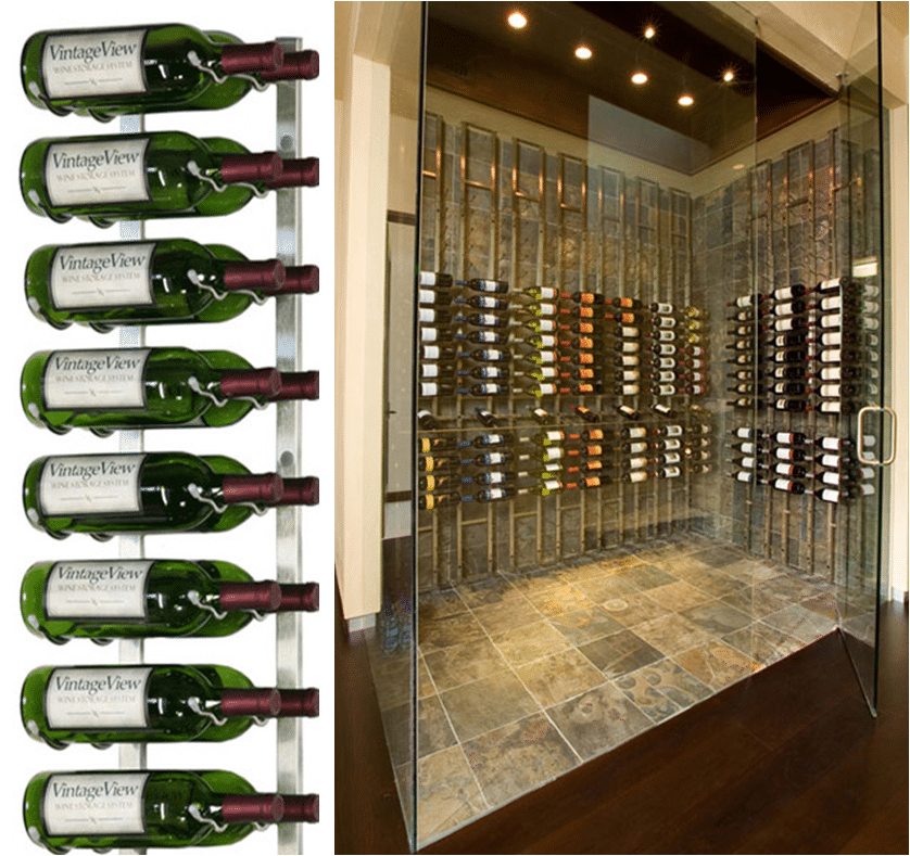 Metal Racking For San Antonio Contemporary Home Wine Cellars