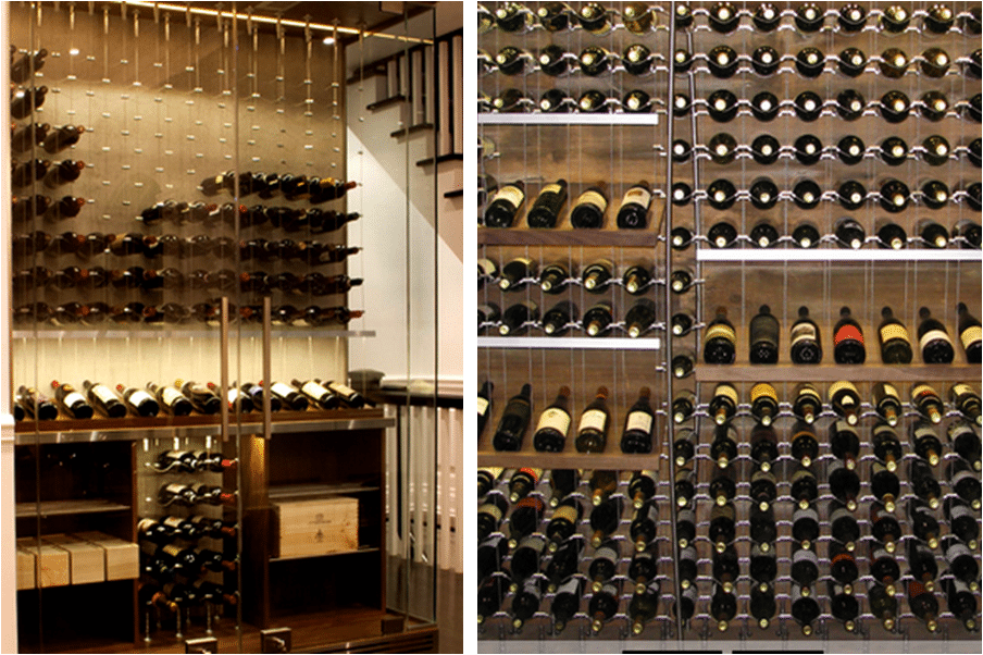 Metal racking for san antonio contemporary home wine cellars for Decor systems