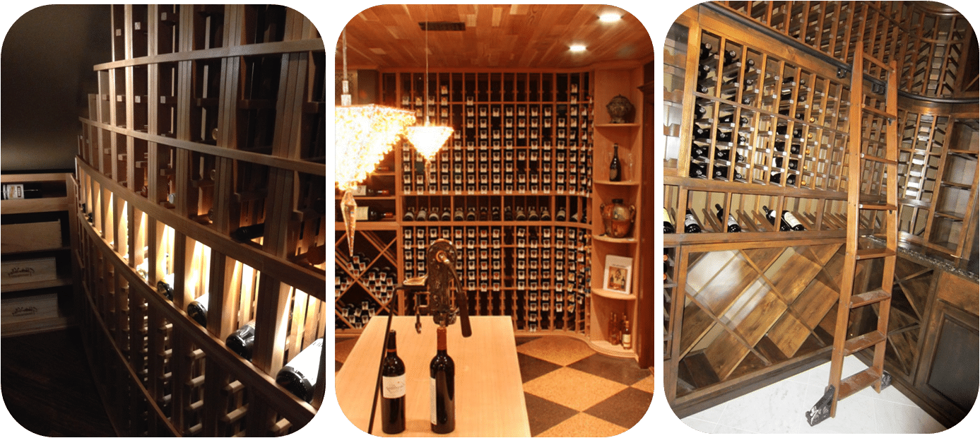 Houston custom wooden wine racks