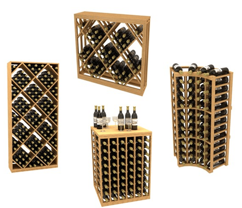 Houston wooden wine rack kits
