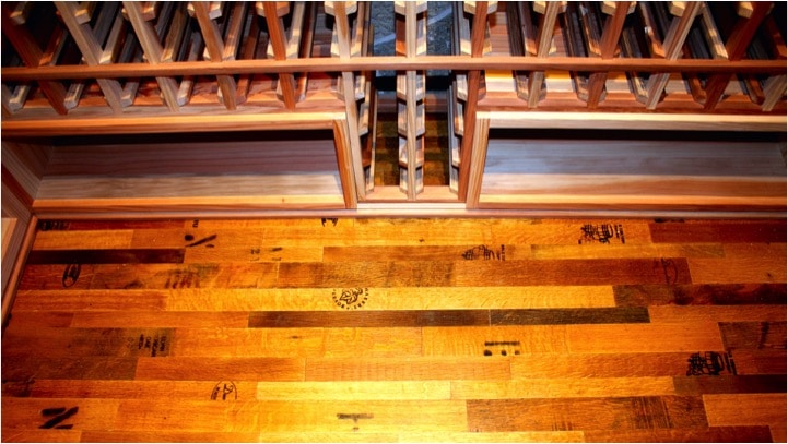 Texas Wine Barrel Flooring by Wine Cellar Specialists