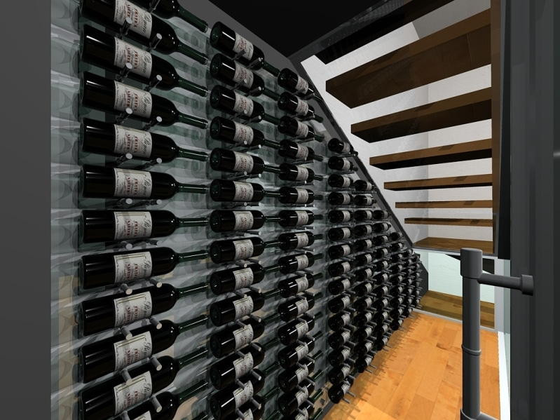 Modern Wine Cellar Dallas 3D Drawing Dallas Contemporary Wine Cellar Project