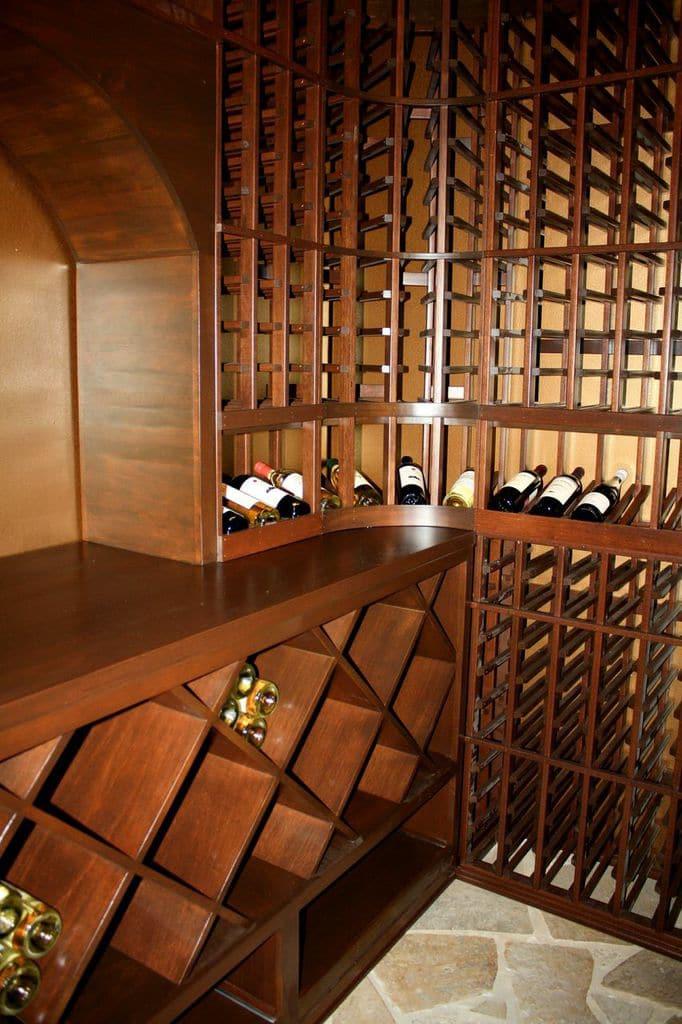 Modern Wine Cellar Houston High-Quality Wooden Wine Racks by Houston Master Builders