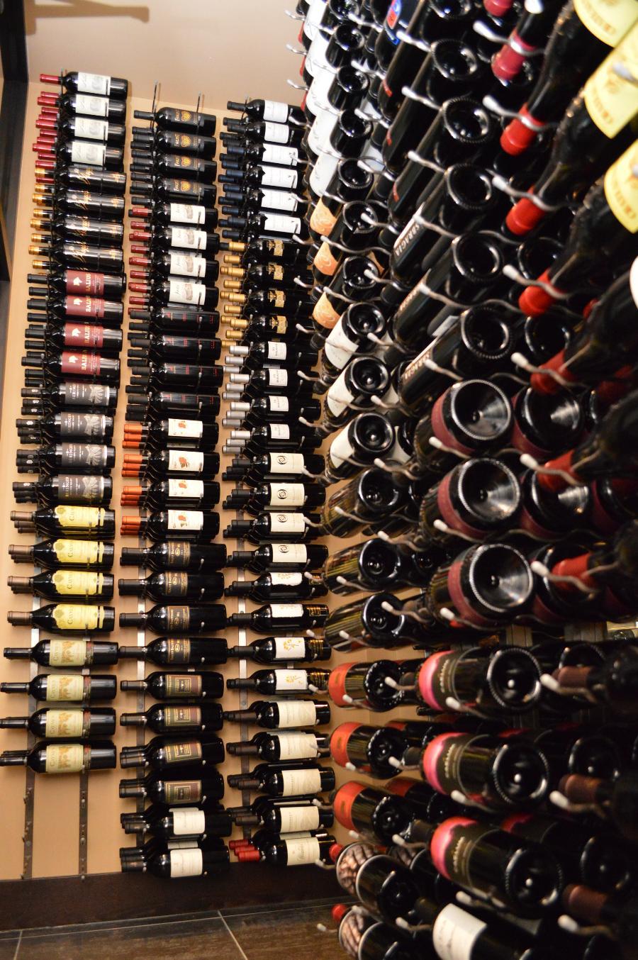 Metal Wine Racks ~ Custom wine cellars houston beautiful
