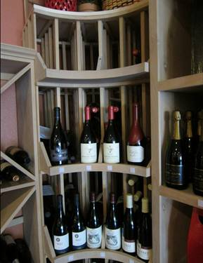 Curved Corner Wine Rack Texas Master Builder