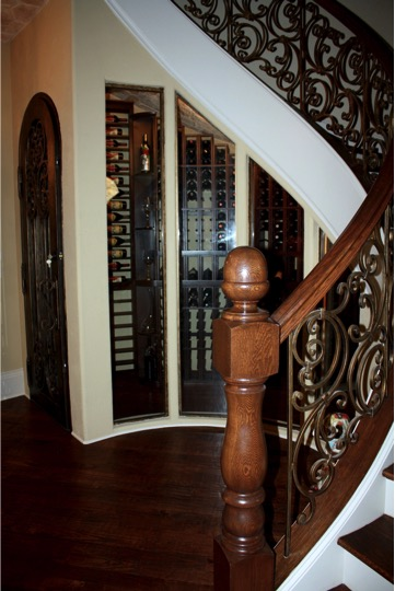 Houston Home Wine Cellar Under The Stairs