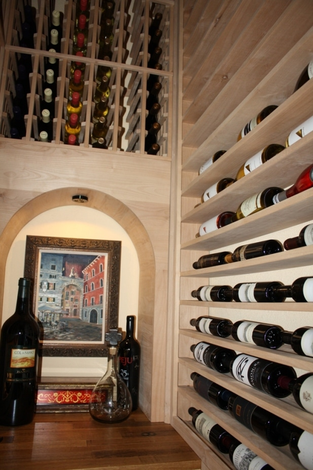 Houston Home Closet Wine Cellar