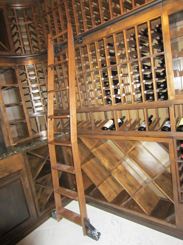 Elegant custom home wine cellar design by houston builders Home wine cellar design
