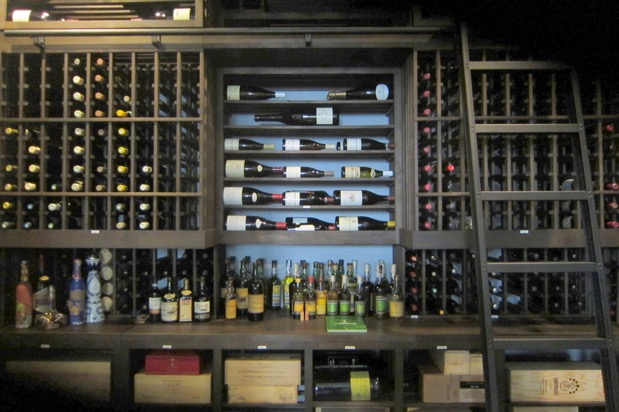 Back Wall Wine Rack Design by Houston Builders