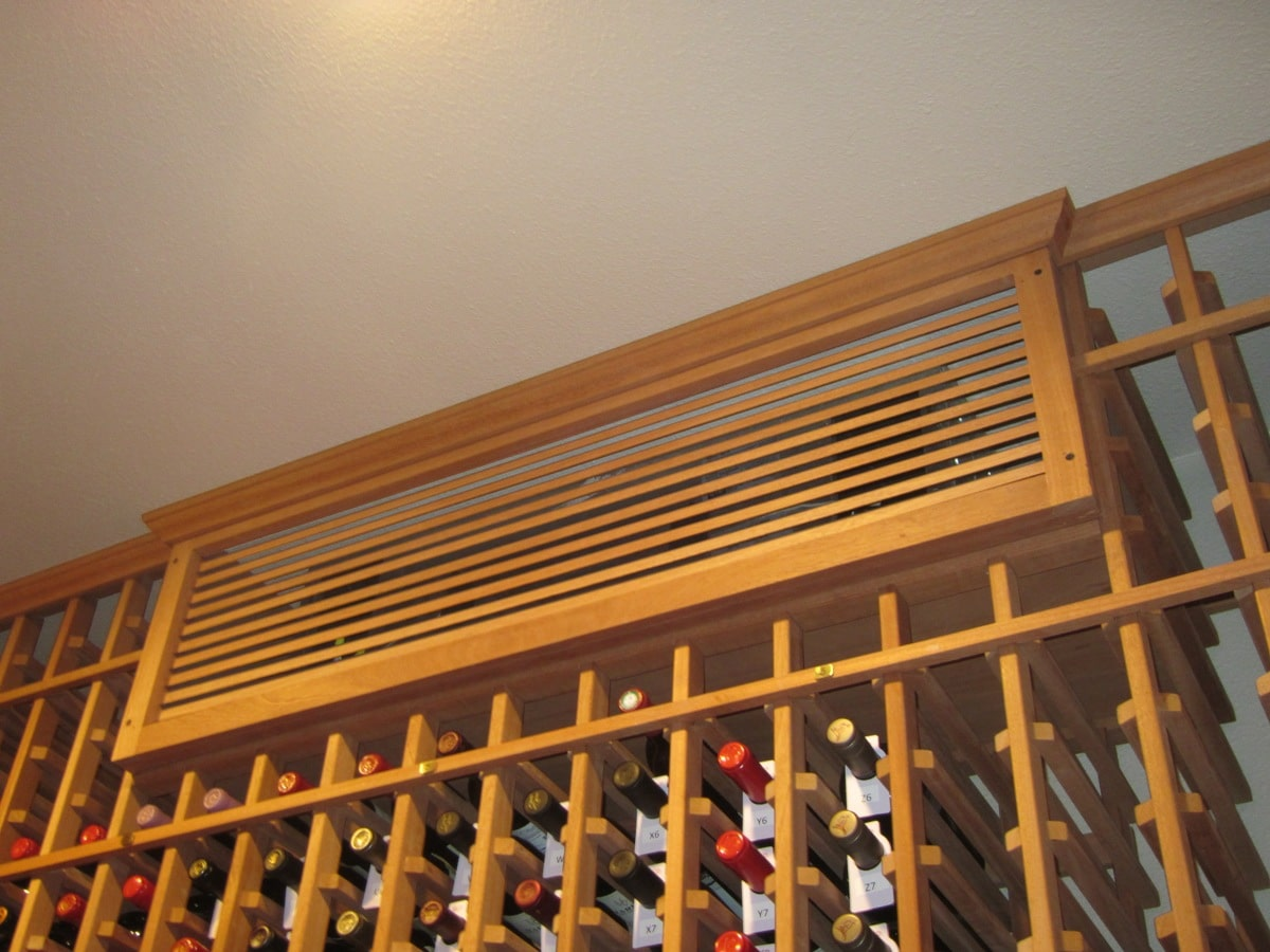 Grill Cover and Box Conceals the Wine Cellar Cooling Unit
