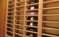 OK Left Wall Lattice Horizontal Racking Staircase Wine Cellar Texas