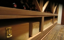 Case Storage on Bottom Right Custom Wine Racks Texas Project