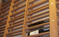 Lattice horizontal wine rack