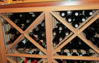 OK Houston Wine Racks Lattice X Bins with Tabletop and Lighted Display Row
