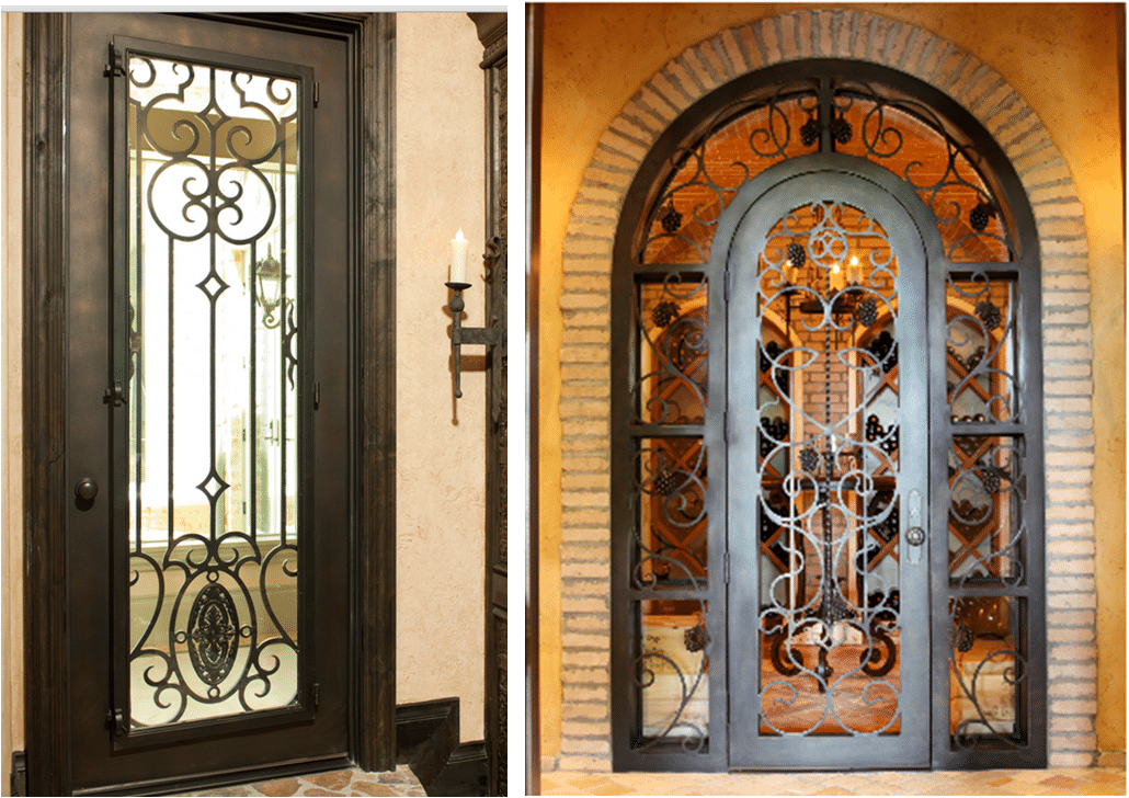 forged iron door