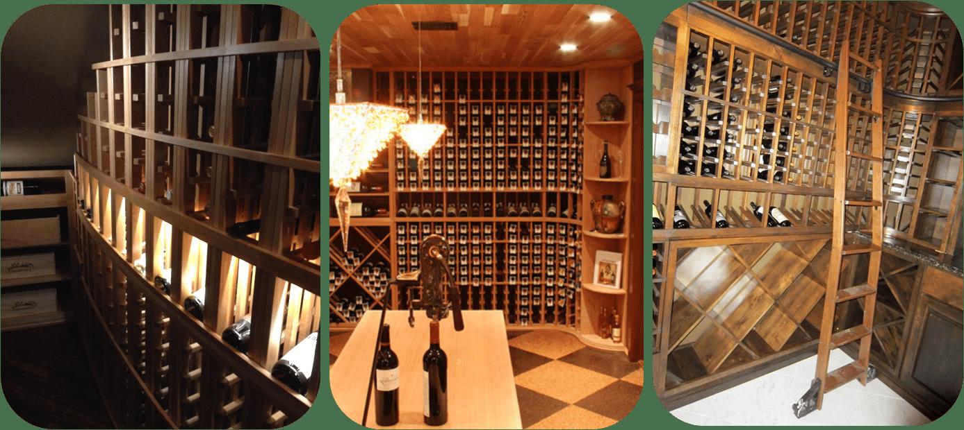 Houston custom wooden wine racks