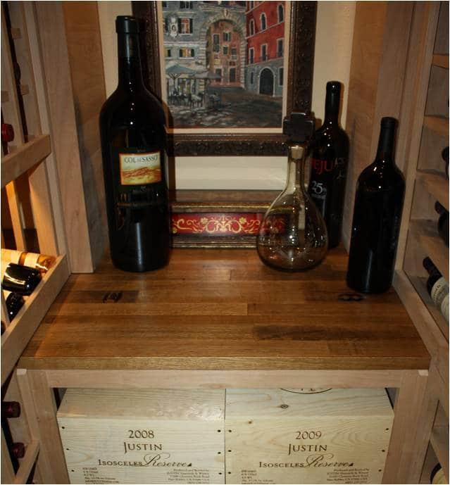 Houston wine cellar table top