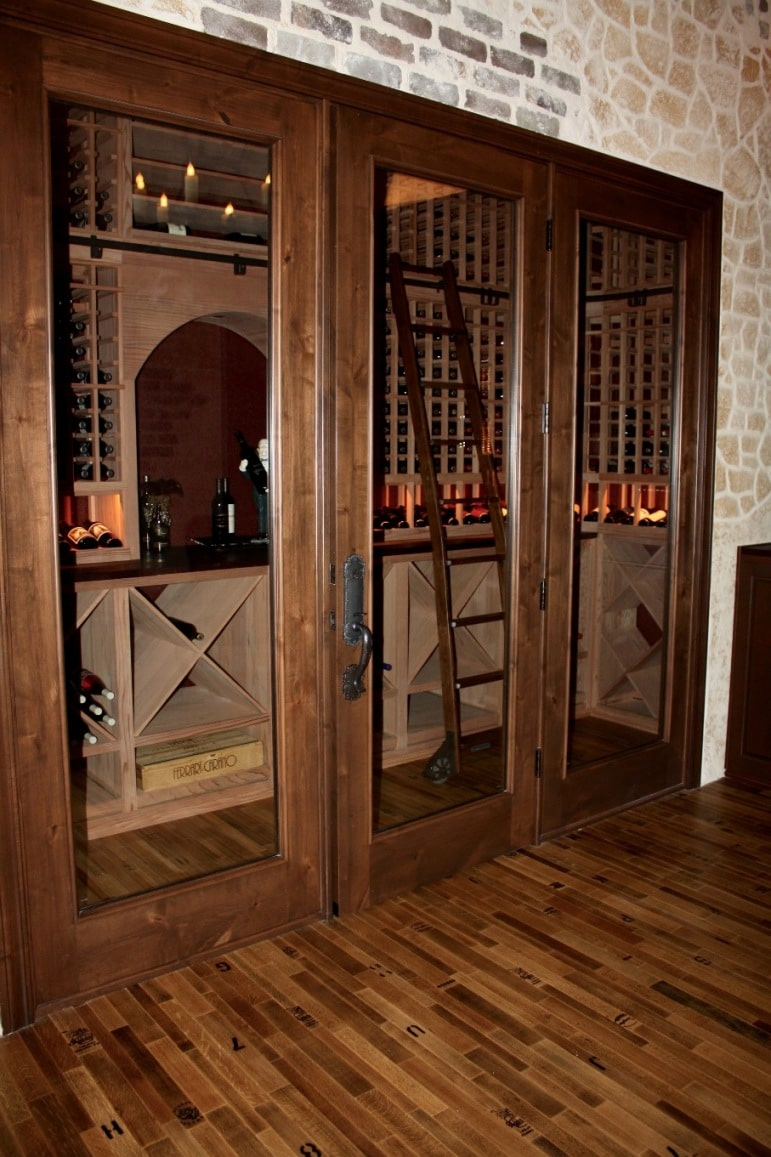 Texas custom wine cellar installation