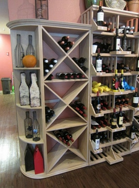 Quarter Round Commercial Wine Rack