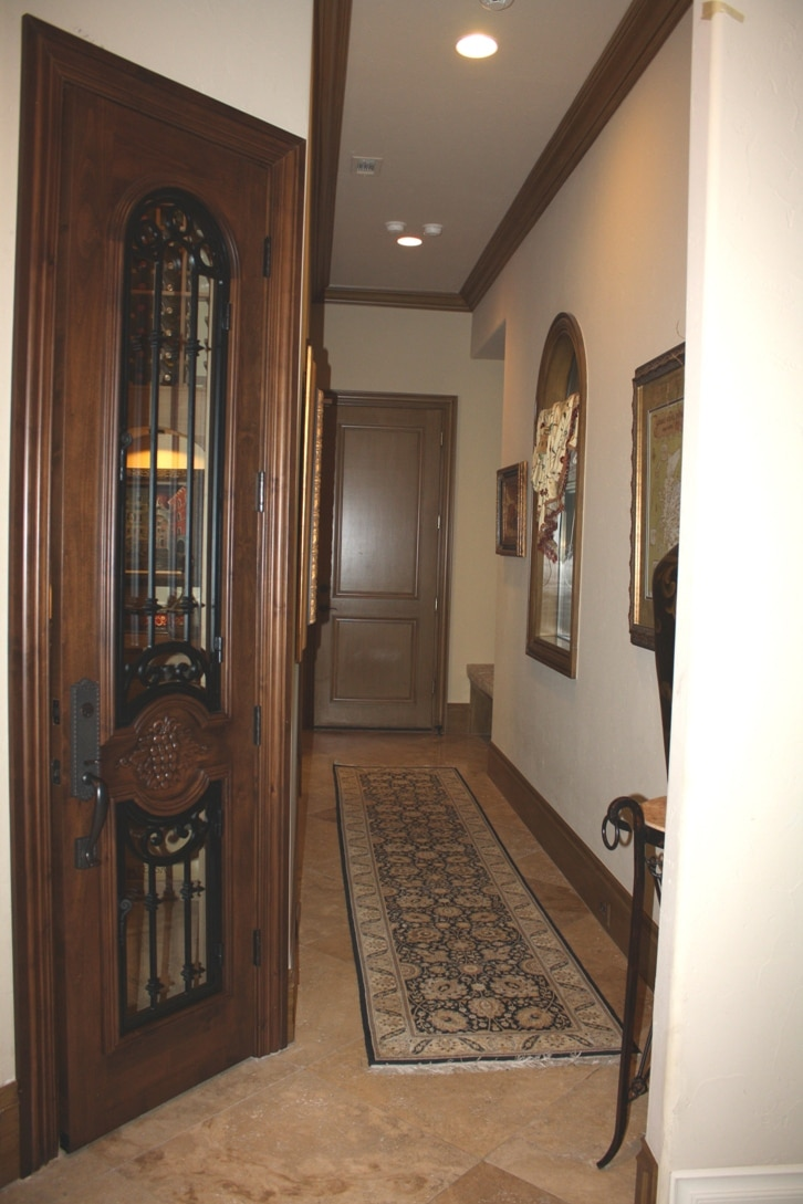 The Door to the Wine Cellar Built in a Closet by a Houston Builder