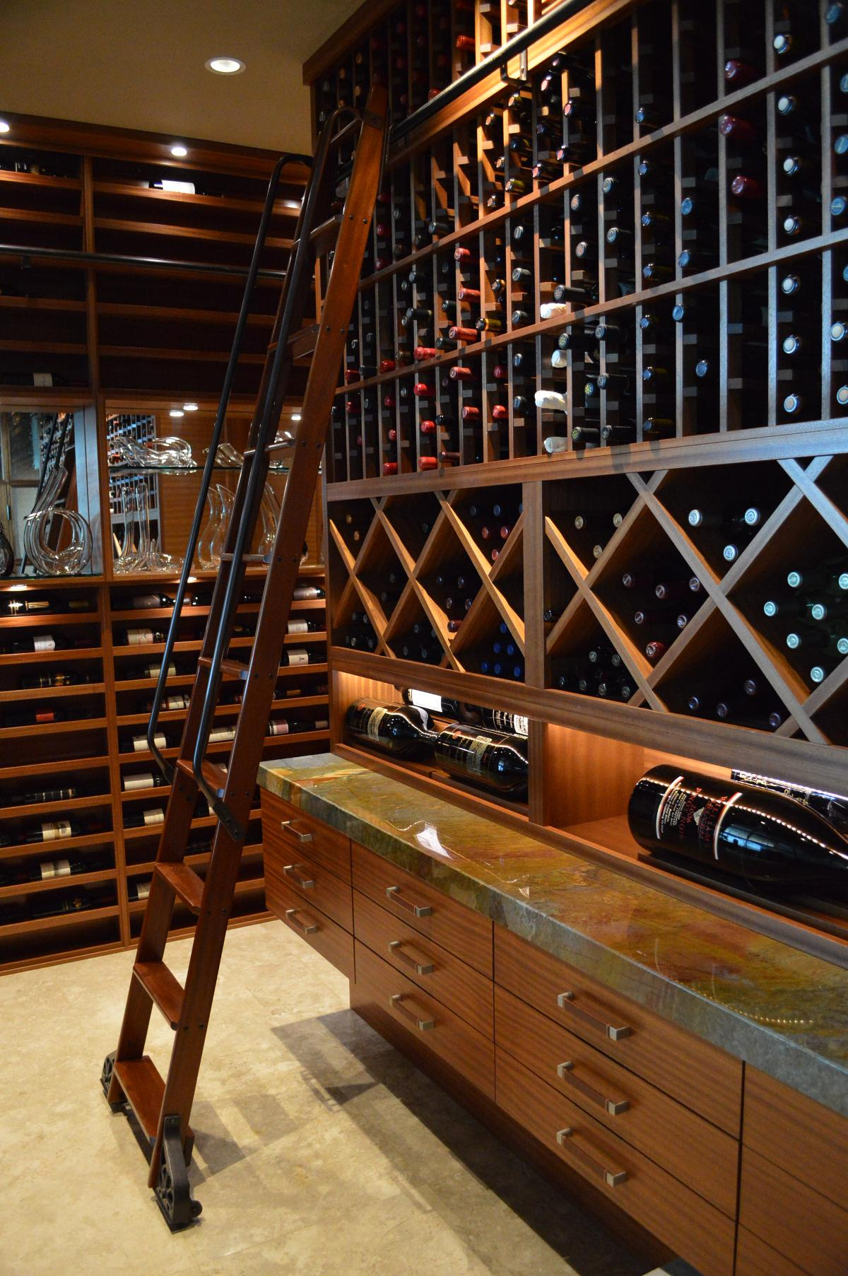 Custom Wine Racks Right Wall