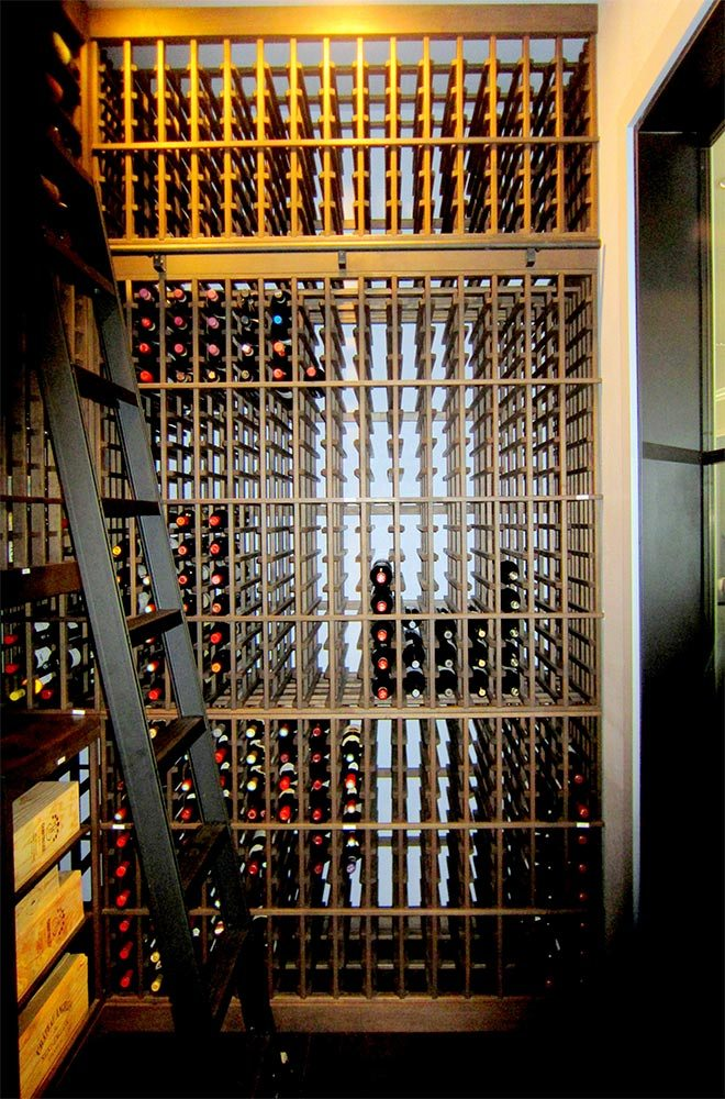 Houston Custom Home Wine Cellar Designed and Built by Wine Cellar Specialists