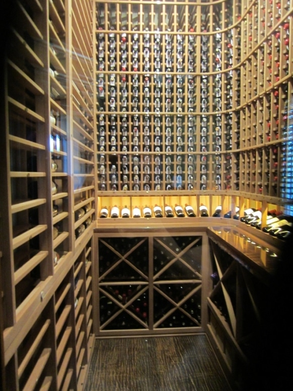 Houston Home Wine Cellar from the Door End