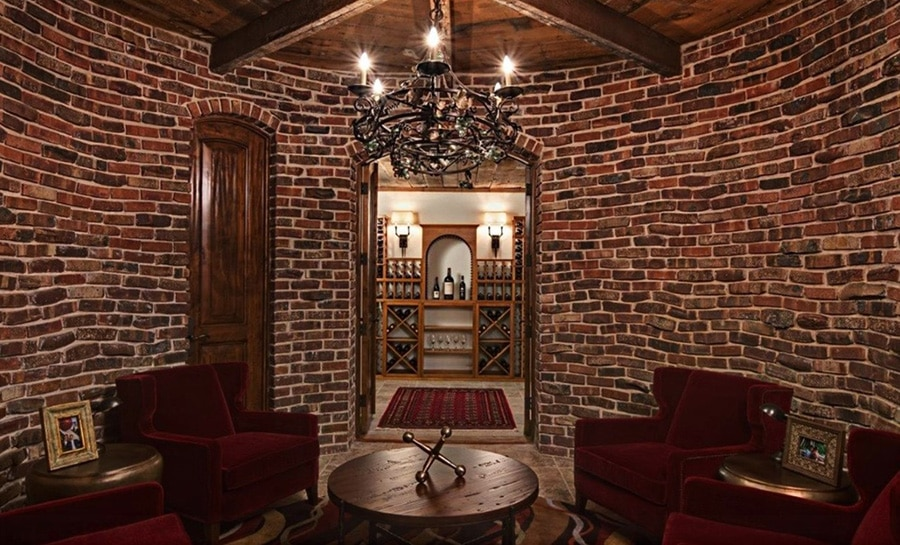 Elegant Chandelier Wine Cellar Lighting Installed by Houston Specialists