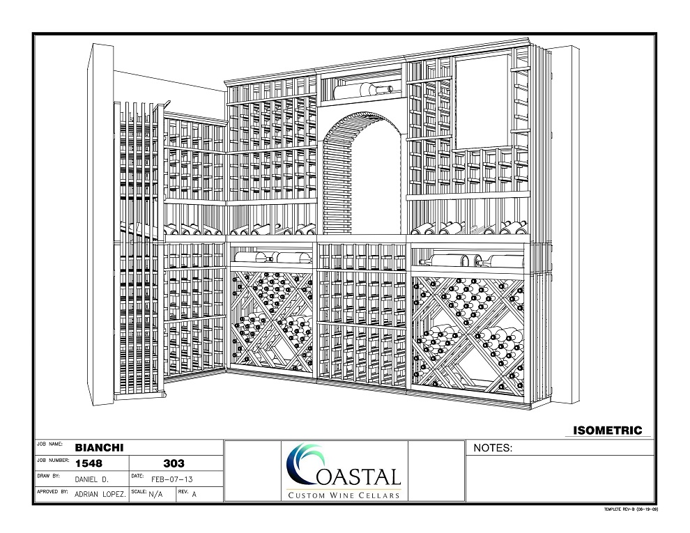 Custom Wine Cellar Design for a Residential Home by Houston Builders