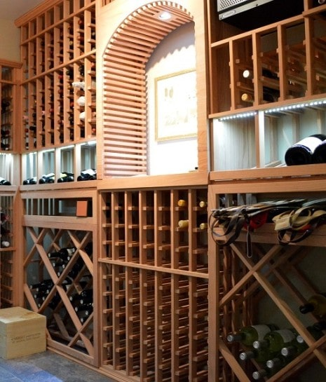 Stylish Wooden Wine Rack System by Houston Builders