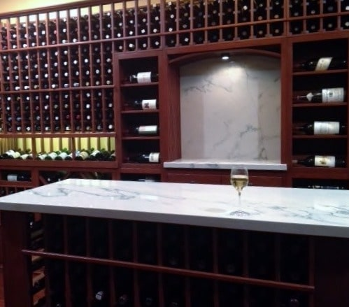 Back Wall Custom Wine Cellar Design Houston