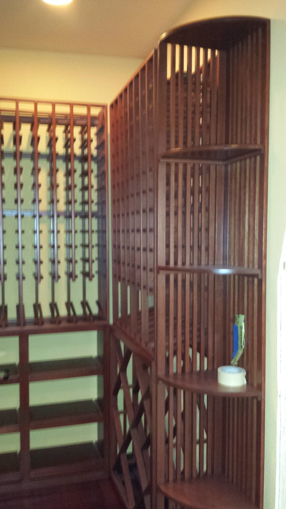 Quarter Round display racks Houston Home Wine Cellar