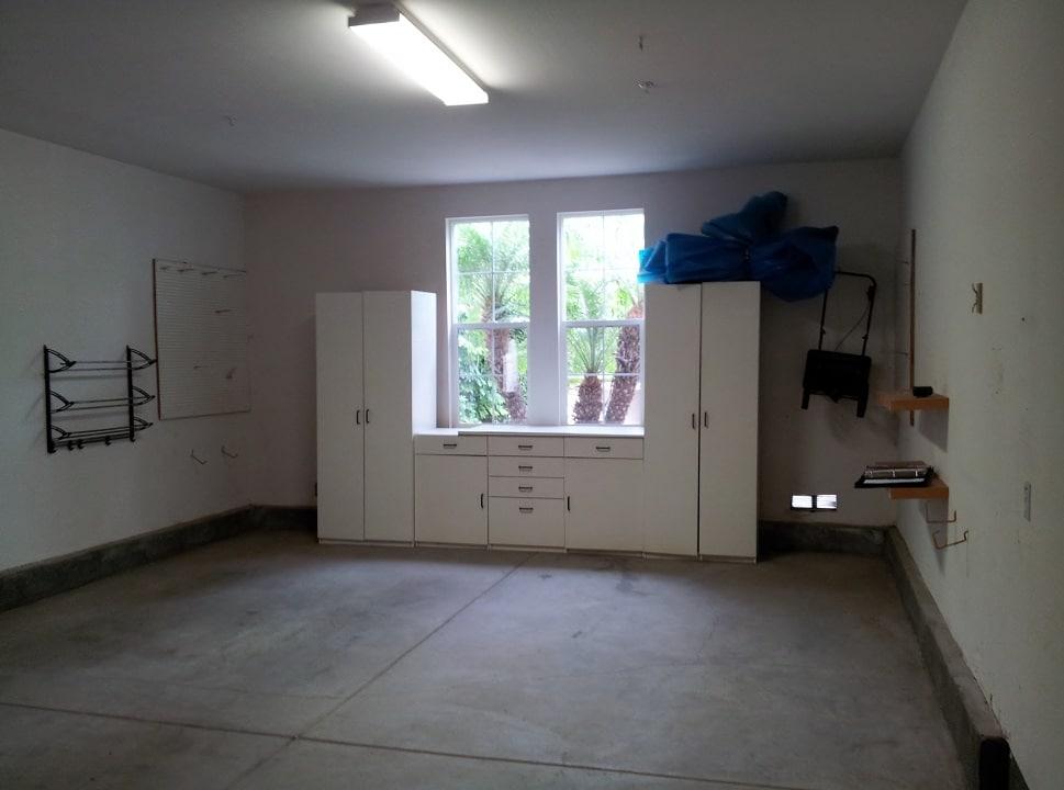 Residential Garage Before Wine Cellar Installation in Houston Began