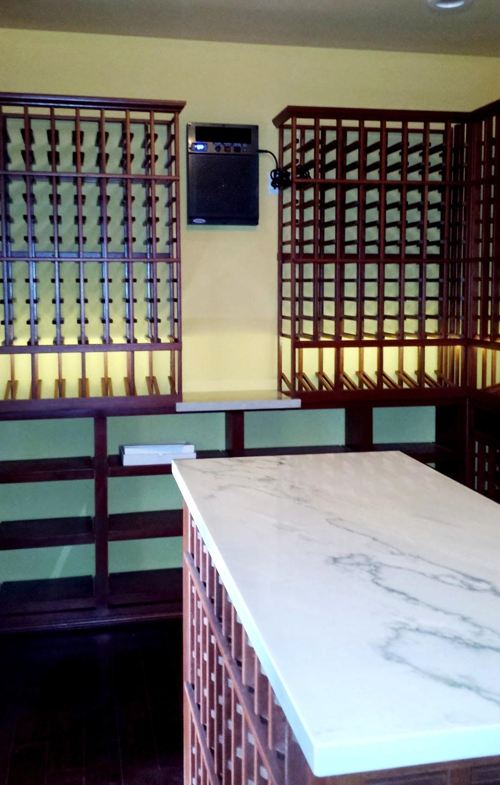 houston Custom Home Wine Cellar garage Cooling System Installation