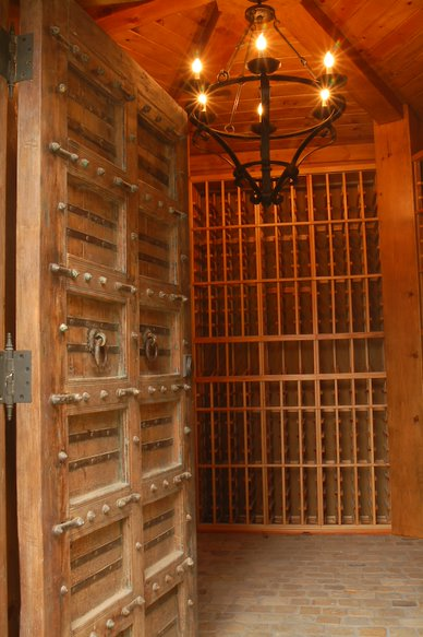 Custom Wine Cellar Constructed by Experts for a Houston Residence