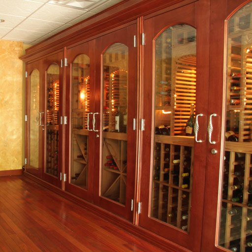 Houston Custom Wine Cellar with Insulated Doors