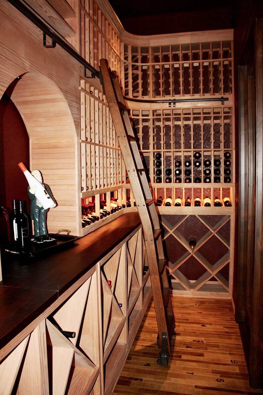 Elegant Custom Wine Cellar Created by an Expert Designer in Texas