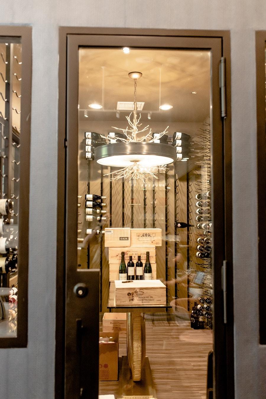 Elegant Custom Wine Cellar Door by Custom Wine Cellars Houston